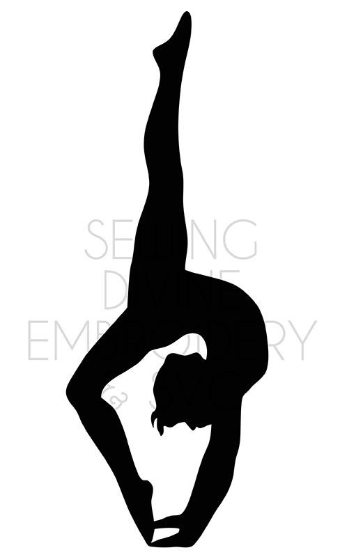 Dance Gymnast Girl Svg Print Design Sewing Divine Embroidery Svg Cuttables And Digital Prints