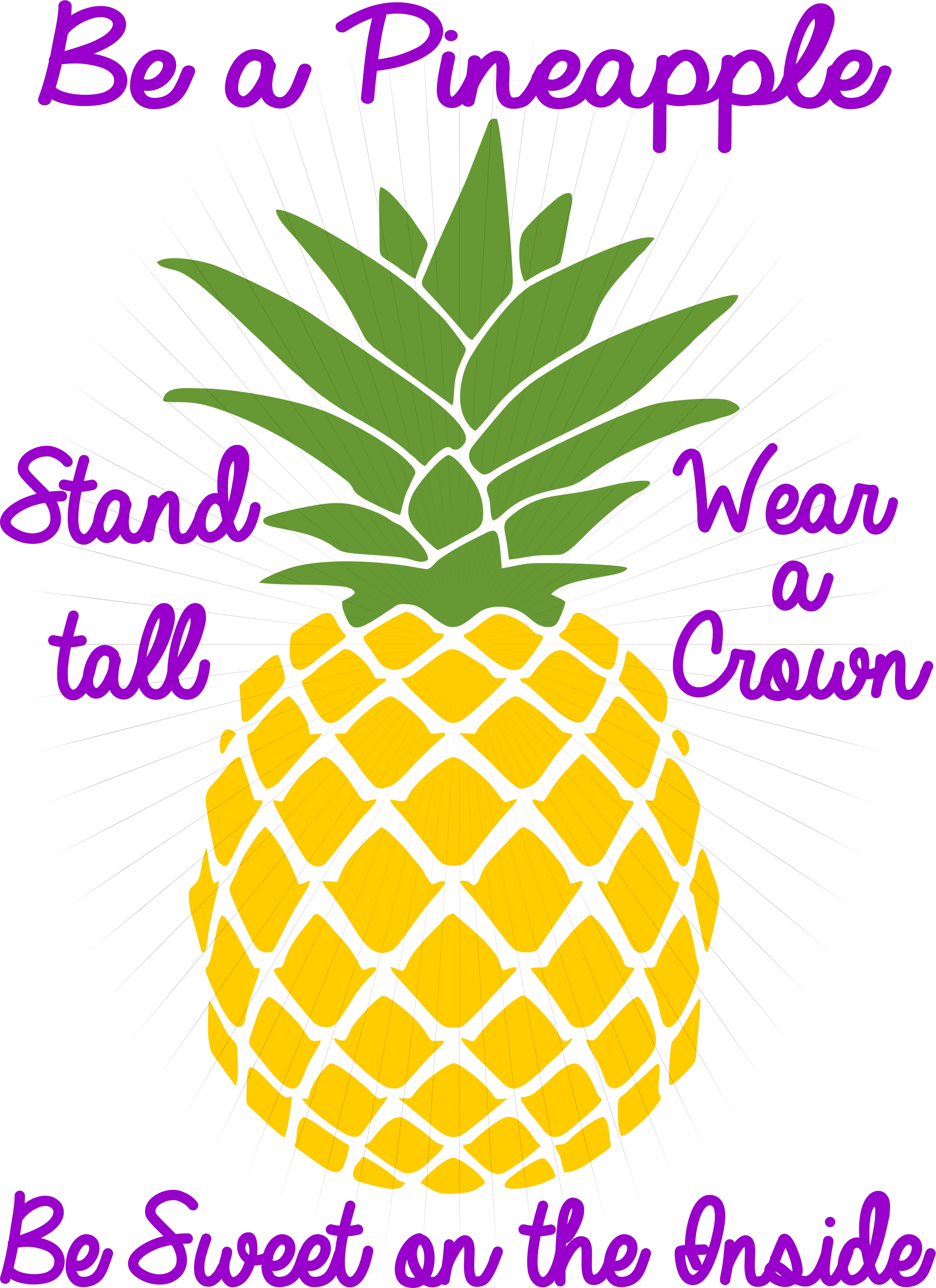 Be A Pineapple Svg Cut Print Clipart Digital Download For Decals Prints