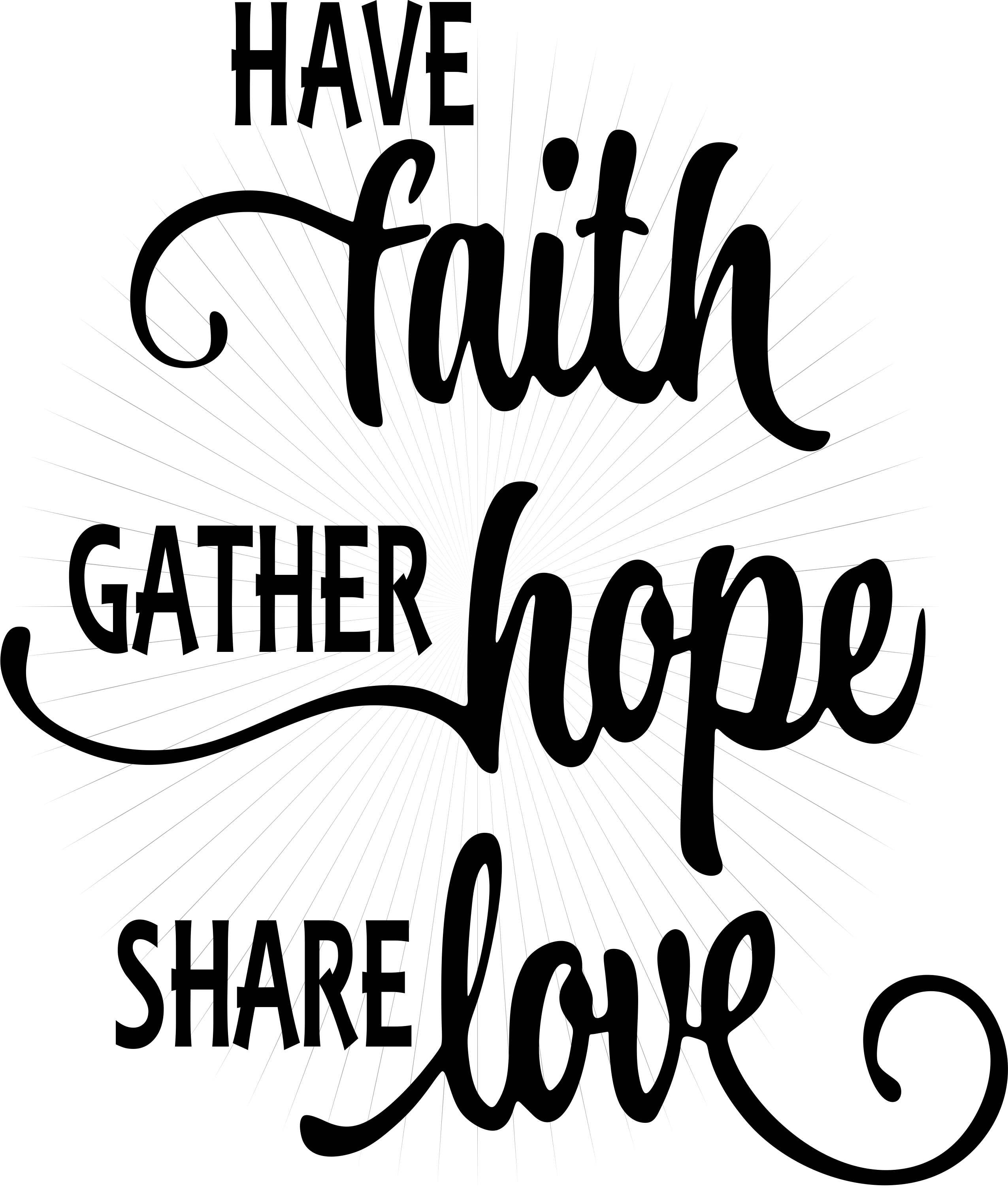 Have Faith Hope Love Svg And Png Clipart Instant Digital Download